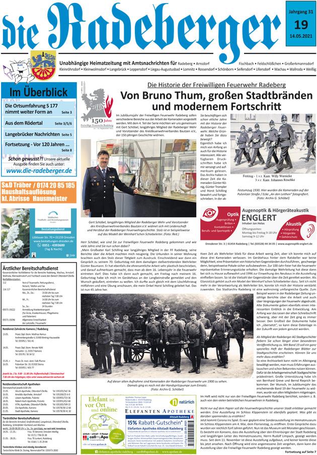 Historik der FF Radeberg