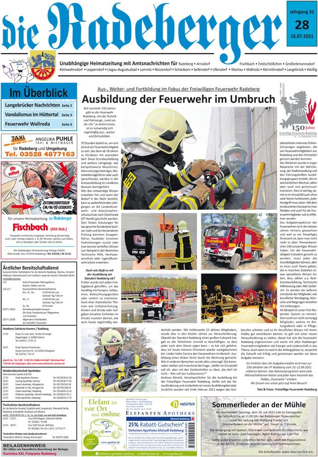 Ausbildung in der FF Radeberg