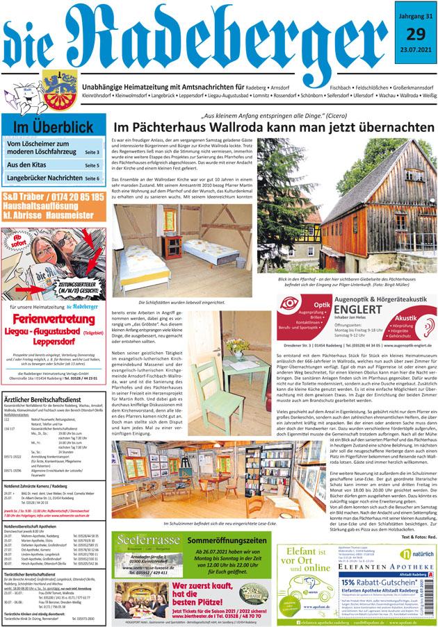 Radeberger Blätter zur Stadtgeschichte